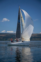 Day 3 Scottish Series, SAILING, Scotland.<br /> <br /> Class 3, Phoenix, Quarter Tonner, GBR8700R<br /> <br /> The Scottish Series, hosted by the Clyde Cruising Club is an annual series of races for sailing yachts held each spring. Normally held in Loch Fyne the event moved to three Clyde locations due to current restrictions. <br /> <br /> Light winds did not deter the racing taking place at East Patch, Inverkip and off Largs over the bank holiday weekend 28-30 May. <br /> <br /> Image Credit : Marc Turner / CCC