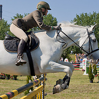 Italy's Alessia Mancini competes during the Modern Pentathlon Women's World Cup held in Budapest, Hungary on May 07, 2011. ATTILA VOLGYI