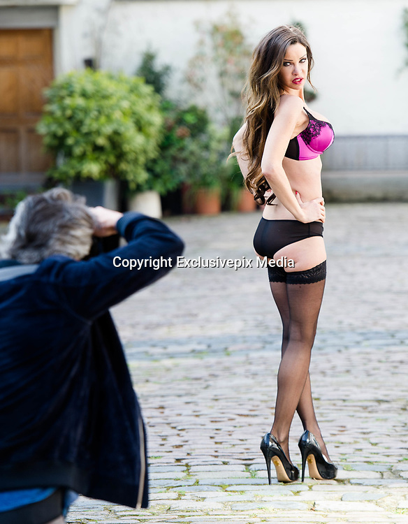 EXCLUSIVE<br /> Model and reality TV personality Alicia Douvall lingerie shoot in London<br /> <br /> Model and reality TV personality Alicia Douvall does a lingerie photoshoot in central London this afternoon.<br /> ©Exclusivepix Media