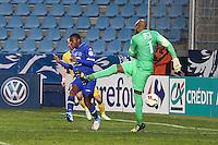 Goal Floyd AYITE / Steeve ELANA - 03.01.2014 - Bastia / Lille - Coupe de France -<br />Photo : Michel Maestracci / Icon Sport