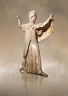 Roman marble sculpture of Athena from the tabling of the Villa of the Papyri in Herculaneum, Naples Museum of Archaeology, Italy ..<br /> <br /> If you prefer to buy from our ALAMY STOCK LIBRARY page at https://www.alamy.com/portfolio/paul-williams-funkystock/greco-roman-sculptures.html . Type -    Naples    - into LOWER SEARCH WITHIN GALLERY box - Refine search by adding a subject, place, background colour, museum etc.<br /> <br /> Visit our ROMAN WORLD PHOTO COLLECTIONS for more photos to download or buy as wall art prints https://funkystock.photoshelter.com/gallery-collection/The-Romans-Art-Artefacts-Antiquities-Historic-Sites-Pictures-Images/C0000r2uLJJo9_s0