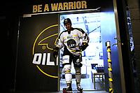 GET-ligaen Ice Hockey, 27. october 2016 ,  Stavanger Oilers v Stjernen<br /> Peter Lorentzen fra Stavanger Oilers i løpet av pause mot Stjernen<br /> Foto: Andrew Halseid Budd , Digitalsport