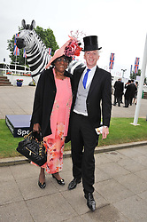 MARJORIE JONES mother of Grace Jones and PHILIP TREACEY at the 2012 Investec sponsored Derby at Epsom Racecourse, Epsom, Surrey on 2nd June 2012.