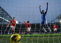 Jonny Evans Scores own goal as Chelsea's Florent malouda Celebrates<br />Manchester United 2011/12<br />Chelsea V Manchester United 05/02/12<br />The Premier League<br />Photo: Robin Parker Fotosports International