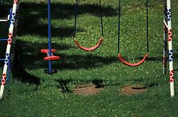 backyard swing,see saw, set of playground equipment