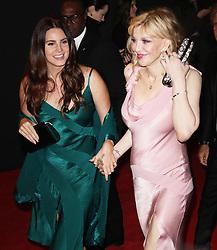 Lana Del Rey & Courtney Love, The British Fashion Awards 2014, The London Coliseum, London UK, 01 December 2014, Photo By Brett D. Cove © Licensed to London News Pictures. 02/12/2014. Brett D Cove/PIQ/LNP