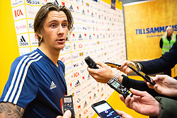 November 20, 2018 - Stockholm, SWEDEN - 181120 Kristoffer Olsson of Sweden in the mixed zone after the Nations League football match between Sweden and Russia on November 20, 2018 in Stockholm  (Credit Image: © Simon HastegRd/Bildbyran via ZUMA Press)