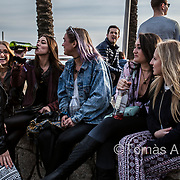 Party animals: about 9,000 young US-American university students celebrate their Spring Break in Barcelona‒three days of massive binge with music and booze unlimited.