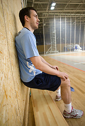 Jure Natek at Open training session for the public of Slovenian handball National Men team before European Championships Austria 2010, on December 27, 2009, in Terme Olimia, Podcetrtek, Slovenia.  (Photo by Vid Ponikvar / Sportida)
