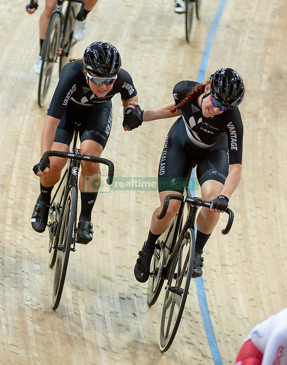 January 26, 2019 - Hong Kong, Hong Kong SAR, China - The New Zealand Team.Women's Madison 20km race.UCI Track Cycling World Cup Hong Kong 2019, Qualifiers Leg VI at the Hong Kong Velodrome in Tseung Kwan O ,Kowloon (Credit Image: © Jayne Russell/ZUMA Wire)
