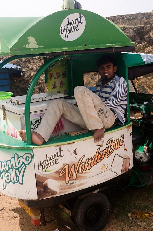 Ice cream seller in Galle Fort, Sri Lanka