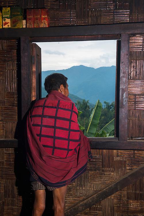 Chang Naga traditional shawl<br /> Chang Naga headhunting Tribe<br /> Tuensang district<br /> Nagaland,  ne India