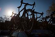 Colnago bicycles on Team UAE car, Volta Catalunya 2019