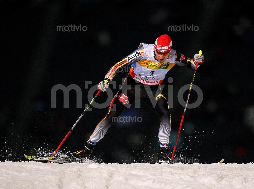 Sapporo , 230207 , Nordische Ski Weltmeisterschaft  Nordische Kombination Sprintrennen ,  Bjoern KIRCHEISEN (GER)