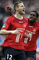Fotball<br /> Foto: Dppi/Digitalsport<br /> NORWAY ONLY<br /> <br /> FOOTBALL - FRENCH CHAMPIONSHIP 2005/2006 - LILLE OSC v GIRONDINS BORDEAUX  - 15/04/2006 - JOY MATHIEU BODMER (LIL)