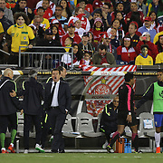 FOXBOROUGH, MASSACHUSETTS - JUNE 12:  Brazil head coach Dunga on the sideline during Brazil's 1-0 loss during the Brazil Vs Peru Group B match of the Copa America Centenario USA 2016 Tournament at Gillette Stadium on June 12, 2016 in Foxborough, Massachusetts. (Photo by Tim Clayton/Corbis via Getty Images)