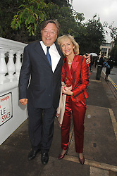 DAVID MELLOR and PENNY, VISCOUNTESS COBHAM at the annual Sir David & Lady Carina Frost Summer Party in Carlyle Square, London SW3 on 5th July 2007.<br />