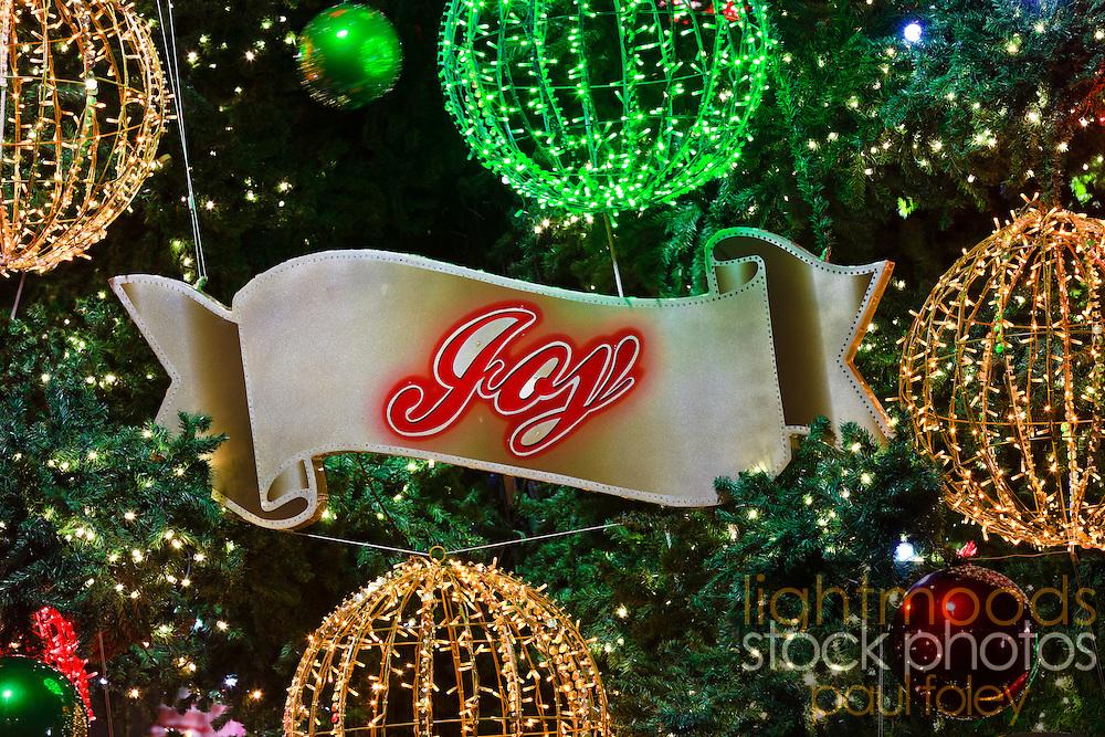Energy efficient LED Christmas Lights, Sydney, Australia, 2010
