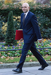 Downing Street, London, November 29th 2016. Communities and Local Government Secretary Sajid Javid arrives at 10 Downing Street for the weekly meeting of the UK cabinet.