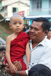 Young Monk & Man, Mount Popa