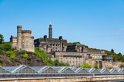 View of St Andrew's House where Scottish Government is based on Calton Hill in Edinburgh, Scotland ,UK