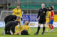 Fotball , 5. april 2009<br /> Tippeligaen<br /> Bodø/Glimt - FC Lyn<br /> Runar Berg og Mounir Hamoud , Bodø/Glimt<br /> Foto: Tor-Erik Eidissen , Digitalsport