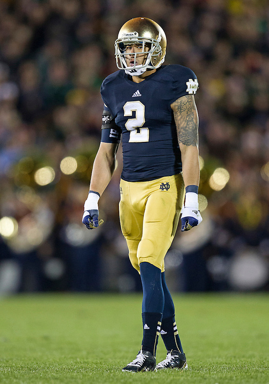 September 22, 2012:  Notre Dame cornerback Bennett Jackson (2) during NCAA Football game action between the Notre Dame Fighting Irish and the Michigan Wolverines at Notre Dame Stadium in South Bend, Indiana.  Notre Dame defeated Michigan 13-6.