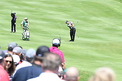 June 24, 2017 - Cromwell, Connecticut, U.S - Patrick Reed approaches the first green during the third round of the Travelers Championship at TPC River Highlands in Cromwell, Connecticut. (Credit Image: © Brian Ciancio via ZUMA Wire)