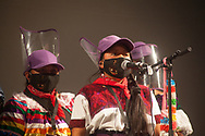Zapatists introducing theirselves.