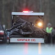 Blankets arrive at the fire station in Sandy Hook after today's shootings at Sandy Hook Elementary School, Newtown, Connecticut, USA. 14th December 2012. Photo Tim Clayton