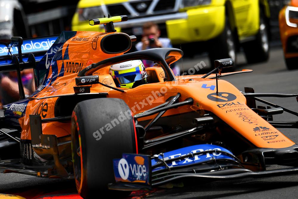 Lando Norris (McLaren-Renault) during practice before the 2019 Monaco Grand Prix. Photo: Grand Prix Photo