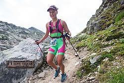 25.07.2015, Rodolfshütte, Uttendorf, AUT, Grossglockner Ultra Trail, 50 km Berglauf, im Bild Johanna Erhart (AUT, 2. Platz bei Rudolfshütte) // Johanna Erhart of Austria during the Grossglockner Ultra Trail 50 km Trail Run from Kals arround the Grossglockner to Kaprun. Uttendorf, Austria on 2015/07/25. EXPA Pictures © 2015, PhotoCredit: EXPA/ Johann Groder