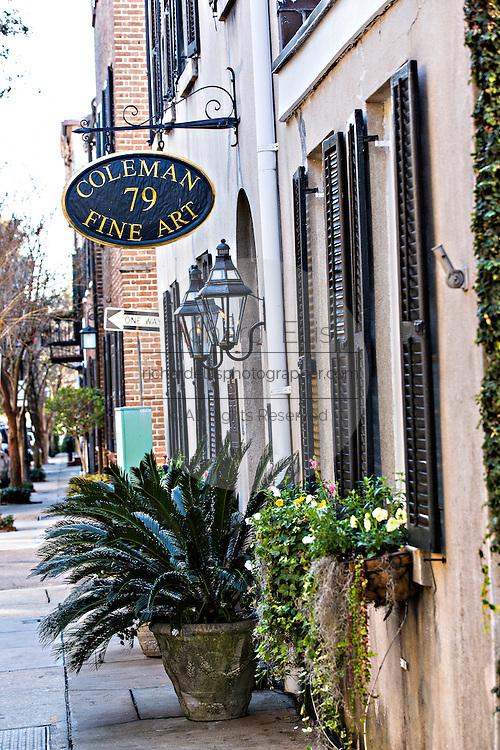 Shops along Church Street in historic Charleston, South Carolina.