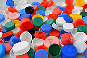Colorful texture of plastic caps.