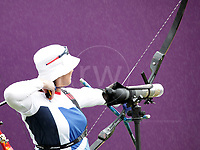 Paralympics London 2012 - ParalympicsGB - Archery Womens Individual Recurve - Standing Heats 30th August 2012<br />   <br /> Sharon Vennard competing in the Womens Archery Individual Recurve - Standing Heats at the Paralympic Games in London. Photo: Richard Washbrooke/ParalympicsGB