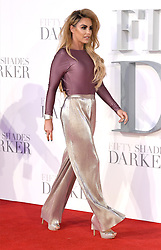 Katie Price arriving for the Fifty Shades Darker European Premiere held at Odeon Leicester Square, London. Picture date: Thursday February 9, 2017