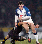 2004/05 Zurich Premiership, London Wasps vs Bath. Causeway Stadium, High Wycombe, ENGLAND:<br /> Baths, Olly Barkley on the attacks<br /> Photo  Peter Spurrier. <br /> email images@intersport-images