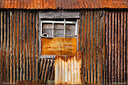 Dilapidated boathouse between the tiny islands off Menai Bridge, Porthaethwy, Anglesey, Wales
