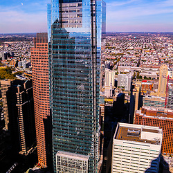 Aerial view of the Comcast Building in Philadelphia PA