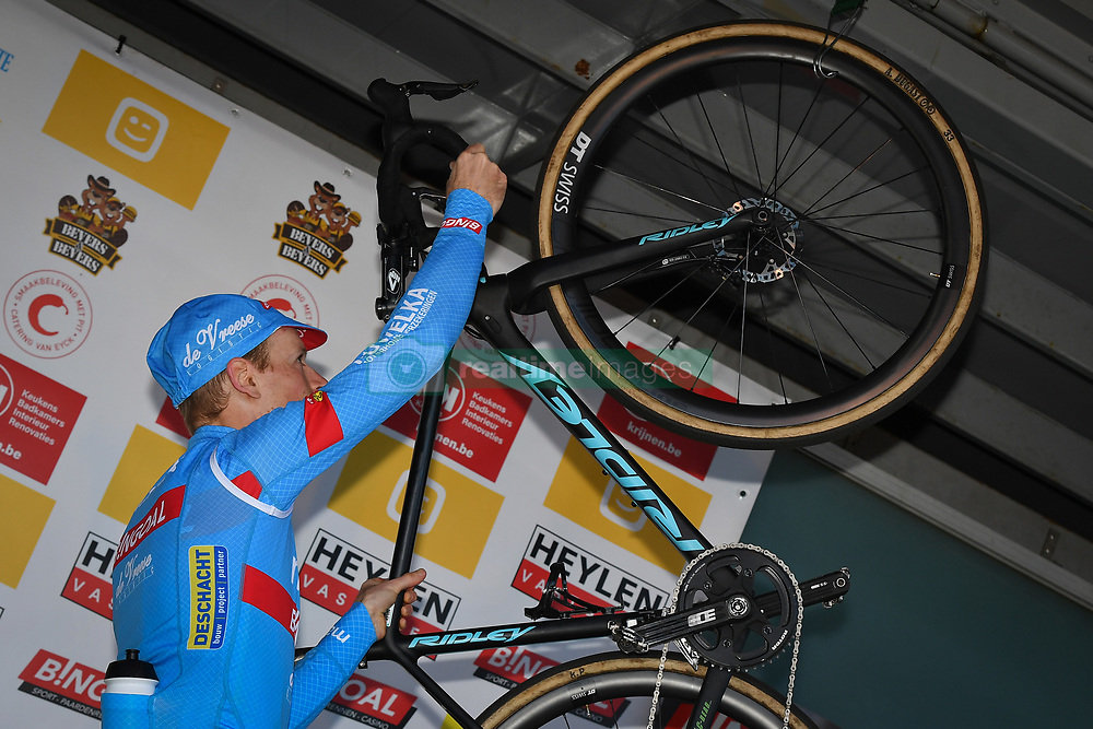 February 24, 2019 - Oostmalle, BELGIUM - Belgian Kevin Pauwels pictured on the podium after his last race at the 'Internationale Sluitingsprijs Oostmalle' cyclocross race, Sunday 24 February 2019, in Oostmalle, the last race of the 2018-2019 season. BELGA PHOTO DAVID STOCKMAN (Credit Image: © David Stockman/Belga via ZUMA Press)