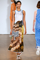 Model Damaris Goddrie walks on the runway during the Pringle of Scotland Fashion Show during London Fashion Week Spring Summer 2018 held at One Marylebone in London, England on September 18, 2017. (Photo by Jonas Gustavsson/Sipa USA)