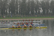 Beijing, CHINA. semi final  JM4X, , at  the  2007. FISA Junior World Rowing Championships,  Shunyi Water Sports Complex. 10/08/2007 [Photo, Peter Spurrier/Intersport-images]..... , Rowing Course, Shun Yi Water Complex, Beijing, CHINA,