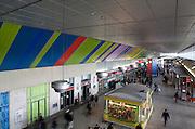 Progetto di recupero e adeguamento funzionale della stazione di porta Nuova, Torino. Nell'immagine la galleria principale. <br /> <br /> Direttore artistico<br /> Luca Moretto