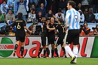 FOOTBALL - FIFA WORLD CUP 2010 - 1/4 FINAL - ARGENTINA v GERMANY - 3/07/2010 - JOY GERMANY AFTER THE KLOSE GOAL<br /> PHOTO FRANCK FAUGERE / DPPI