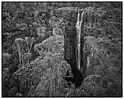 Carrington Falls, a spectacular waterfall near Jamberoo in the Budderoo National Park drops 50 metres down into a gorge into Kangaroo Valley. NSW, Australia