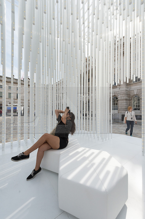 © Licensed to London News Pictures. 03/09/2018. London, UK. Installation titled Housemotion by Tabanliglu Architects is representing the Turkey Pavillion at the London Design Biennale.  The  event will see some of the world's most exciting and ambitious designers, innovators and curators gather to show how design impacts our very being and every aspect of our lives. .Photo credit: Ray Tang/LNP