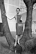 24/04/1964<br /> 04/24/1964<br /> 24 April 1964 <br /> Irish Export Fashion Fair at the Intercontinental Hotel, Dublin. Model wearing dress by Greenmount and Boyne Linen Co. Ltd., (Boyne Mill, Drogheda) at the fair.