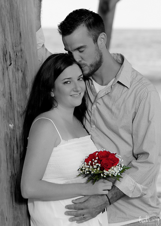 Love after the ceremony! Love in Garden City Beach