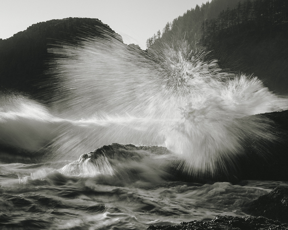 A 1/8-second exposure in Ecola State Park, Oregon -- just north of Cannon Beach.