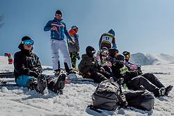 Team Austria during Europa Cup Slopestyle Vogel 2014, on March 16, 2014 at Vogel, Slovenia. Photo by Nika Zvokelj / Sportida.com